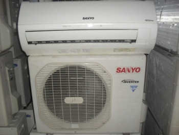 may lanh sanyo 1 5hp  inverter