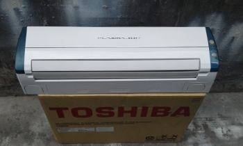 may lanh toshiba cu 1hp inverter plasma ion mat ech